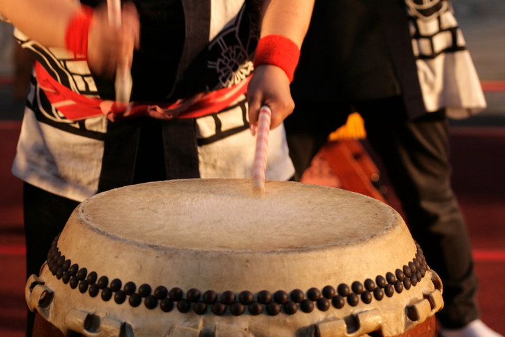 Stock image of Japanese Taiko Drum
