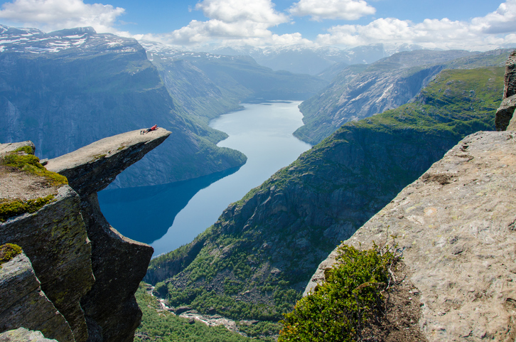 High peak with view to fjord