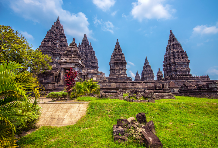 Sunny day in Prambanan temple Indonesia