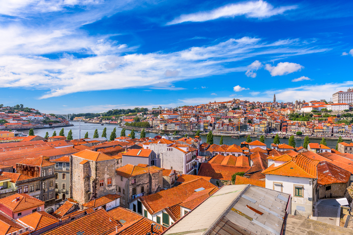 Porto, Portugal old town skyline.
