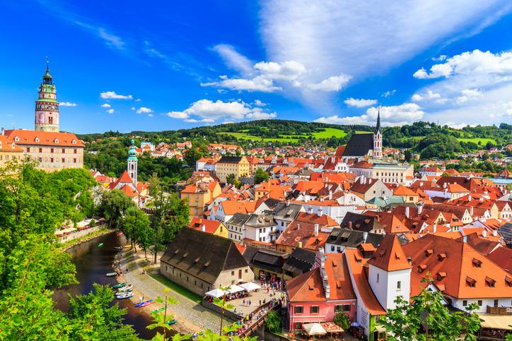 Cesky Krumlov, Europe, Czech Republic, Tourist, Roof
