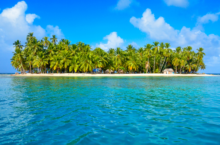 Relaxing on paradise Tropical Island with white beach - Islands in the caribbean see