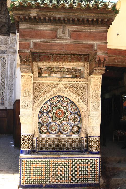 Najjarin Fountain in Medina of Fes, Morocco