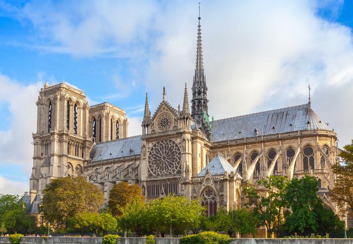 Notre Dame de Paris cathedral, France. The most popular city landmark