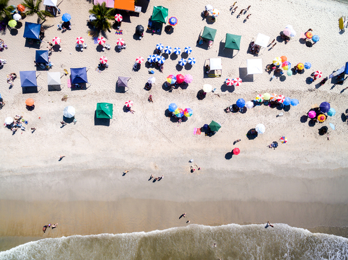 Top view of a Tropical Beach