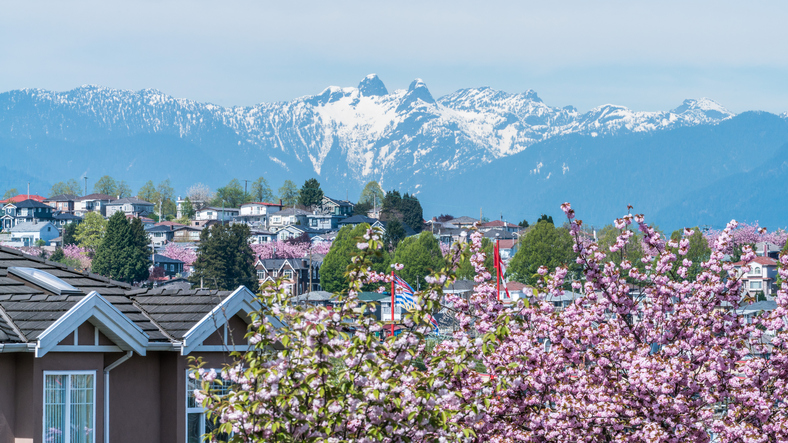 spring city landscape at Vancouver,Canada