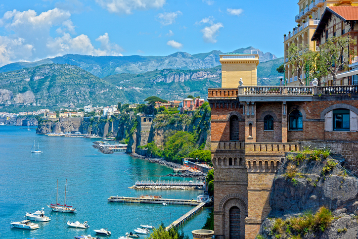 Spectacular view of Sorrento coast, South of Italy