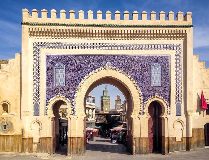 Bab Bou Jeloud gate (Blue Gate) - Fez, Morocco