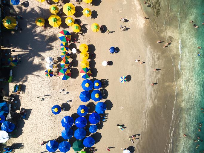 Top View of Porto de Galinhas Beach, Pernambuco, Brazil