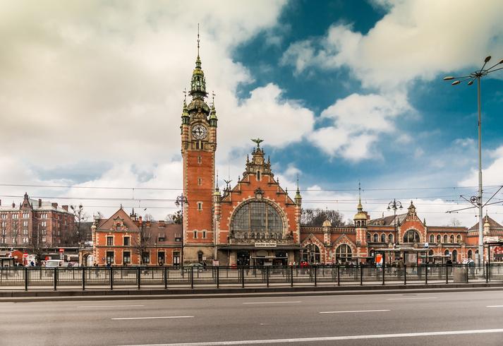 Main station of Gdansk in Poland - Gdansk Glowny