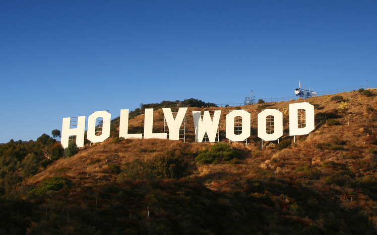 Los Angeles, USA - November 28, 2007: The famous Hollywood Sign on November 28, 2007 on Mount Lee in Los Angeles. The sign was originally created in 1923 as a real estate advertisement and has become a recognised landmark now protected by the Hollywood Sign Trust.