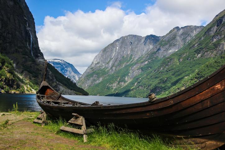 Gudvangen on Naeroyfjorden in Norway
