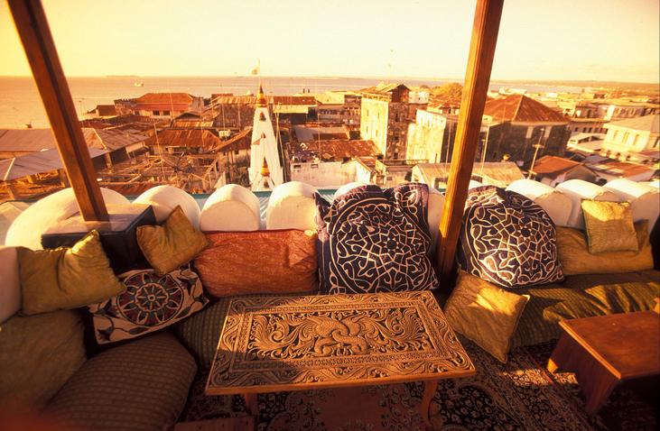 Die Altstadt von Stone Town  oder Zanzibar Town der Hauptstadt der Insel Sansibar im Indischen Ozean in Tansania in Ostafrika..