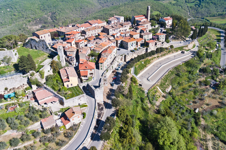 the town of Civitella in Val di Chiana Tuscany-Italy