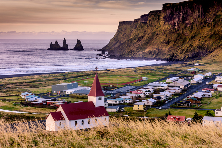 Church in Vik - Little Town in Southern Iceland