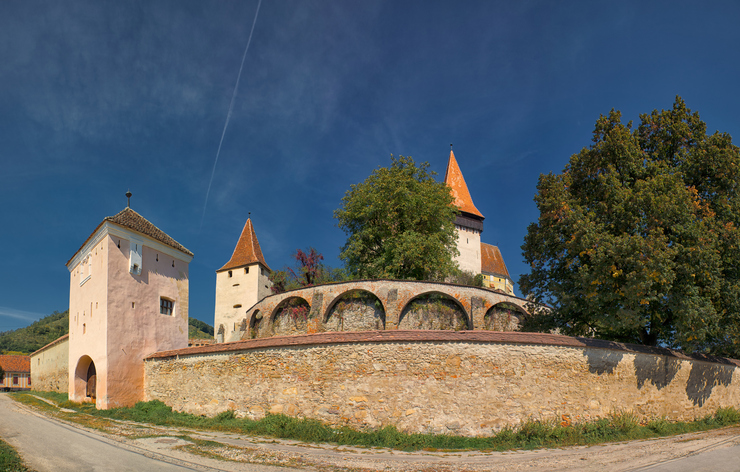 Biertan fortified church in Transylvania, Romania. It is a UNESCO World Heritage site.