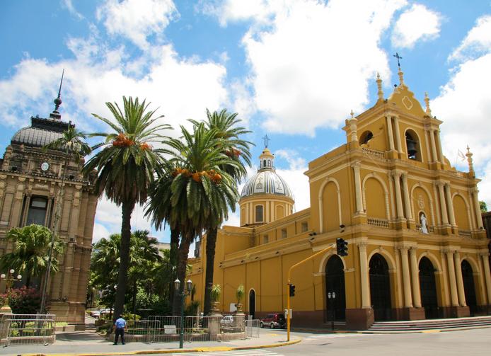 """San Francisco Basilica in San Miguel de Tucuman, the biggest city of northern Argentina."""