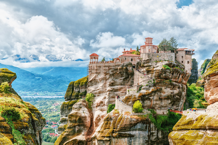Meteora monastery, Greece. UNESCO heritage list.