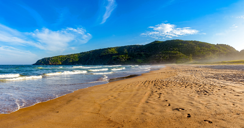 The sea, the sand and landscape of Tucuns beach in Buzios city, Rio de Janeiro
