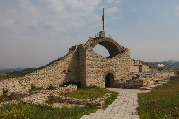 Ruins of the medieval fortress of Lovech, Bulgaria