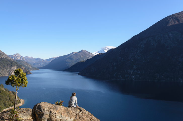 Enjoying the scenery, San Carlos de Bariloche, Patagonia, Argentina.