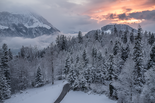 Villa Honegg Hotel de neve nas montanhas