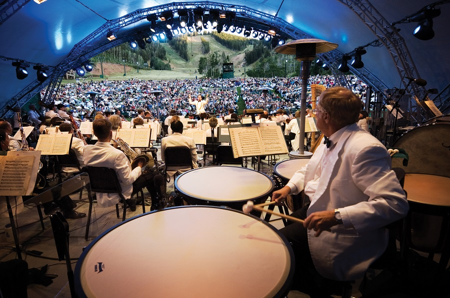 The Utah Symphony perforing at the Deer Valley Music Festival.