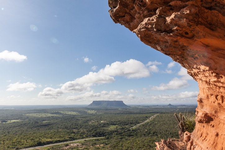 Sight from the top of Chapada's Portal - Carolina, Maranhao, Brazil