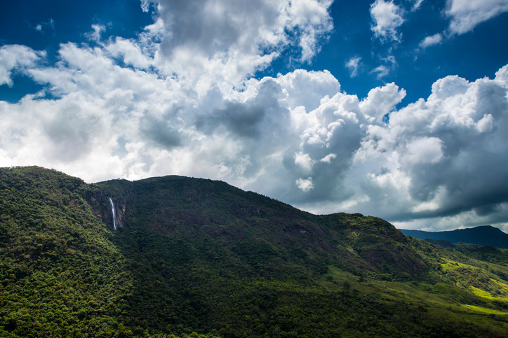 Waterfall in a hill near Bocaina National Park in Brazil