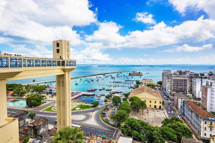 Aerial view of Salvador da Bahia, Brazil.