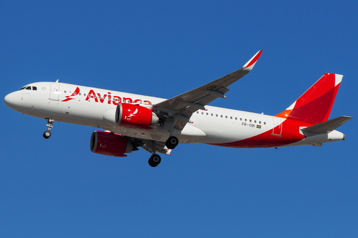 Airbus a320 Neo of Avianca Brasil about to land at GRU Airport, Guarulhos, Sao Paulo - Brazil, 2017