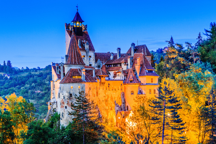 Brasov, Transylvania. Romania. The medieval Castle of Bran, known for the myth of Dracula. ISTOCK/ sorincolac