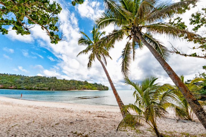 Vavau'u landscape of island in Kingdom of Tonga