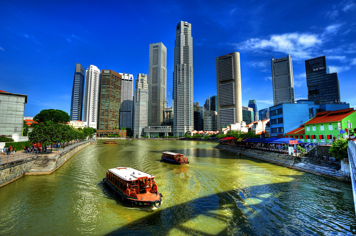 The Singapore River is a river in Singapore that flows from the Central Area, which lies in the Central Region in the southern part of Singapore before emptying into the ocean.