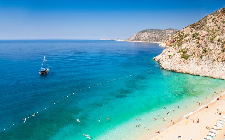 Kaputas Beach with beautiful sea in Antalya Turkey