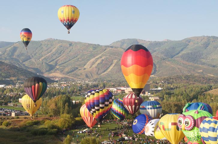 Autumn Aloft Hot Air Balloon Festival Park City Utah