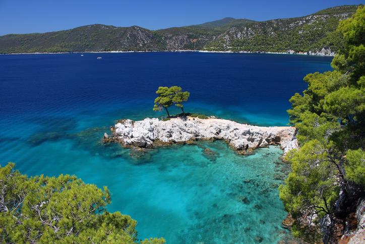 Amarantos Rocks, Sporades, Skopelos, Skiathos, Greek island, Thessaly, Aegean, Greece, Mamma Mia Film