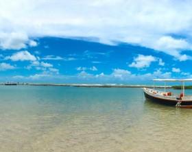 """Famous beach in Porto de Galinhas named """"Carneiros beach"""" - Pernambuco, Brazil"""