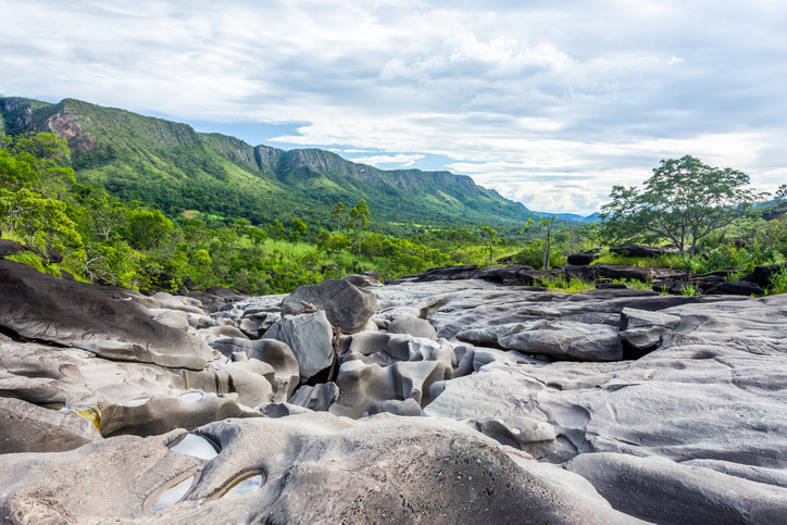 The beauty of Vale da Lua (Moon Valley), at Chapada dos Veadeiros, Goias, Brazil