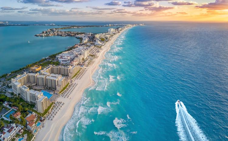 Cancun beach during summer