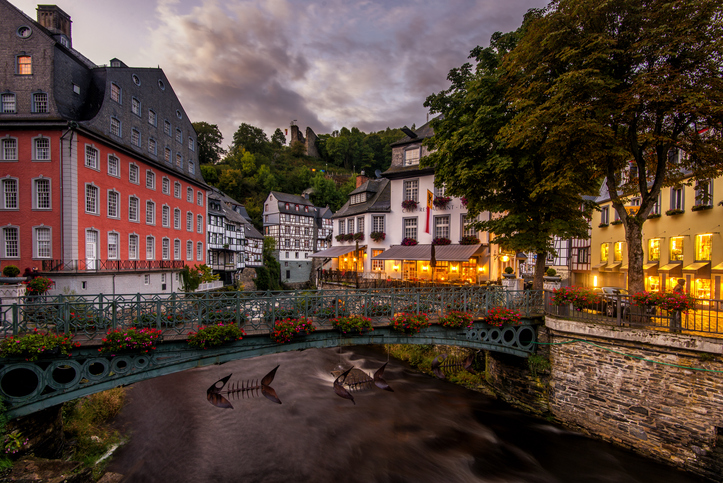 Monschau is a small historic town located in the Eifel.