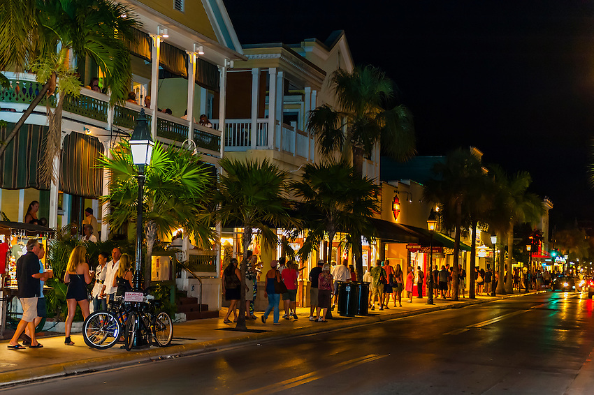 Duval Street by night,