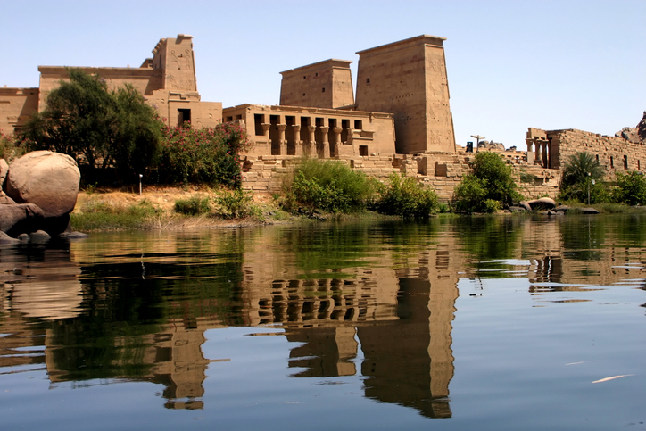 Egypt: Philae temple from nile