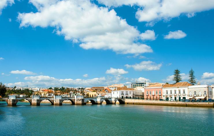 Roman bridge in Tavira, Algarve, Portugal