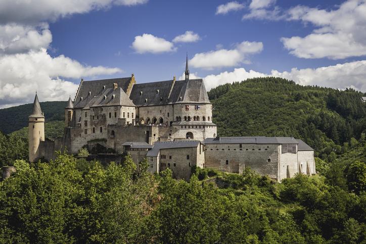 Vianden Castle - Luxembourg. This photo was taken in Vianden, June 2019.