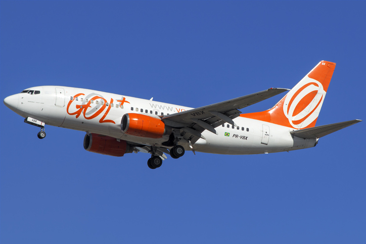 Boeing 737-700 of GOL Linhas Aereas about to land at GRU Airport, Guarulhos, Sao Paulo - Brazil, 2017