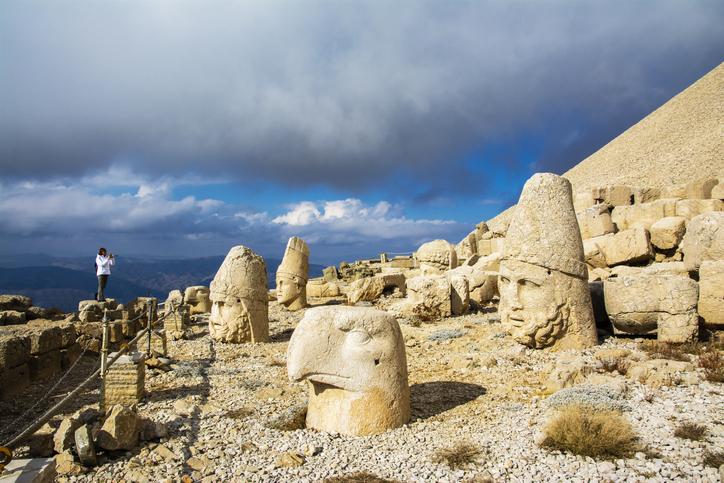 Mount Nemrut is a monumental site belonging to the Kingdom of Commagene in Turkey.