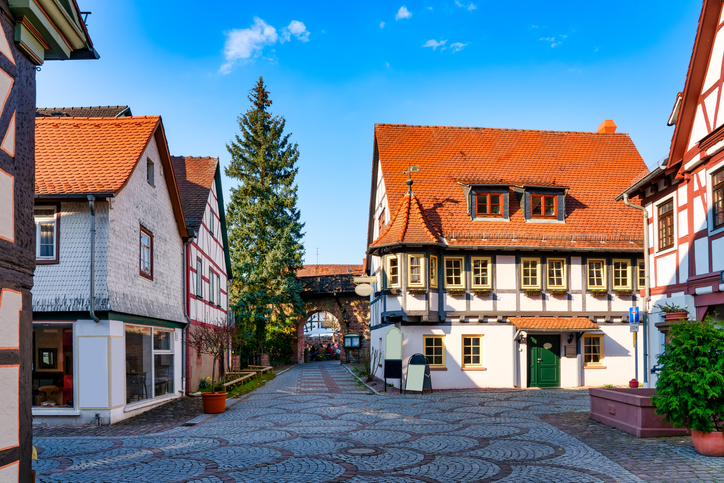 A lovable town of timber-framed houses, Michelstadt is a tourist favourite in the Hessian Odenwald.
