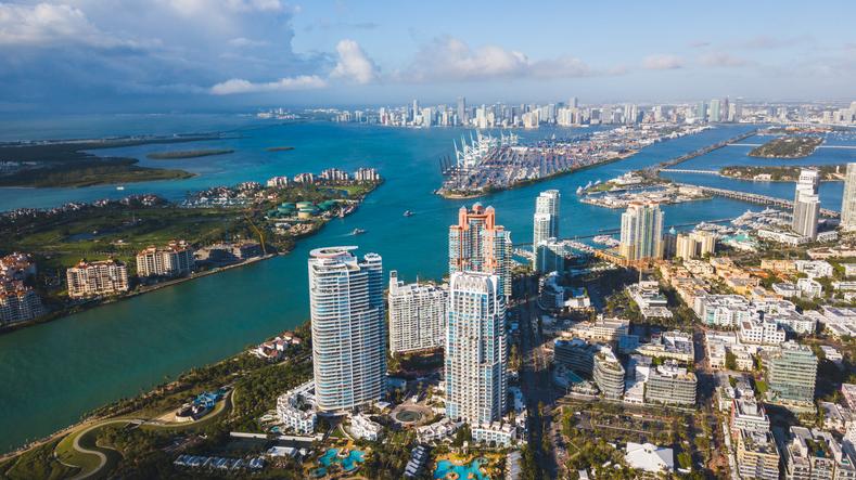 Miami Drone aerial shot
