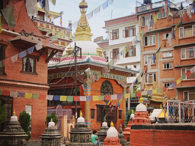 Beautiful Kathmandu streets in Thamel